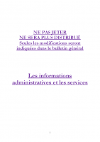 2017 – Informations administratives